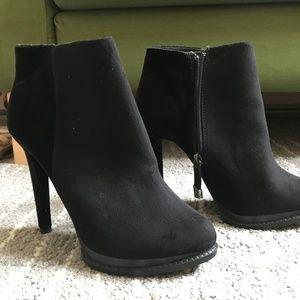 Zara Trafaluc suede bootie heels size 39